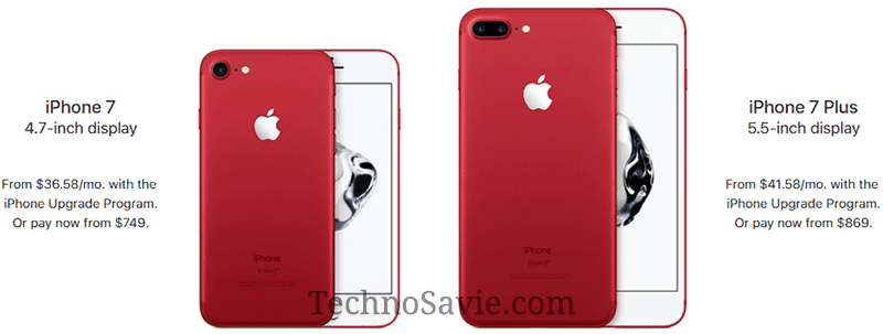 Apple iPhone 7 RED: Launched In Brand New Colour - Specifications, Features & Price | Techno Savie
