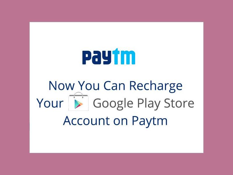 Google Play Account On Paytm App