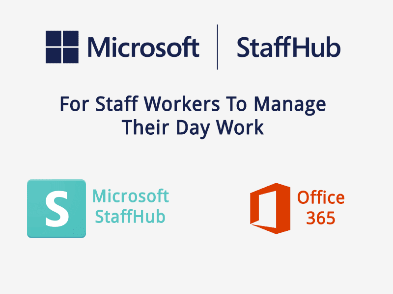 Microsoft StaffHub for staff workers to manage their day work