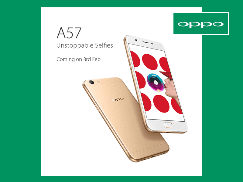Oppo A57 Selfie Expert Smartphone Launching on 3rd Feb