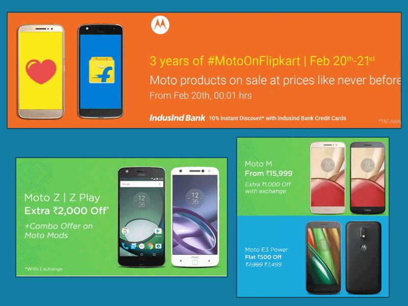 Motorola Anniversary Sale On Flipkart On February 20-21