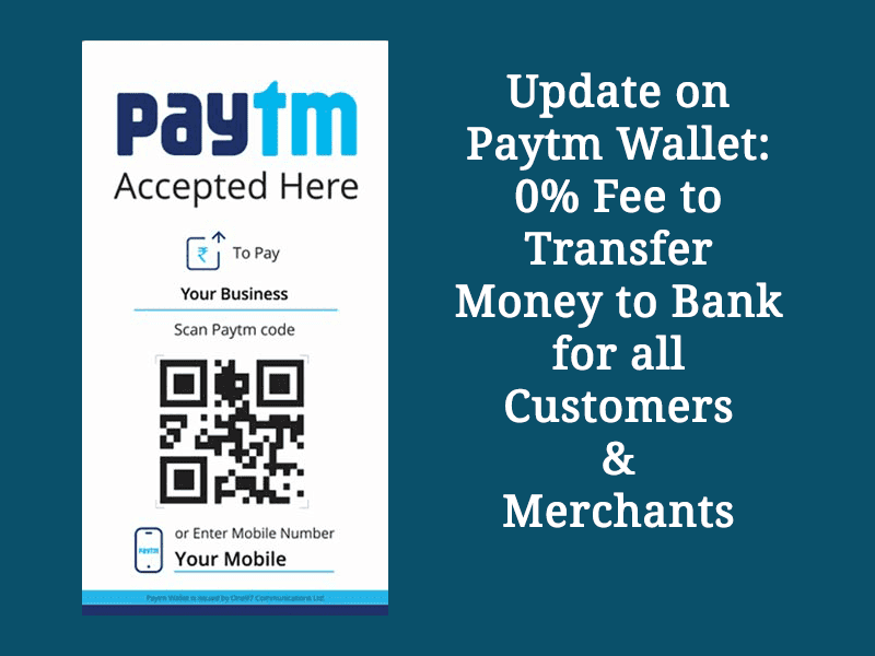 Update on Paytm Wallet: 2% Charge on Bank transfer fee | Techno Savie