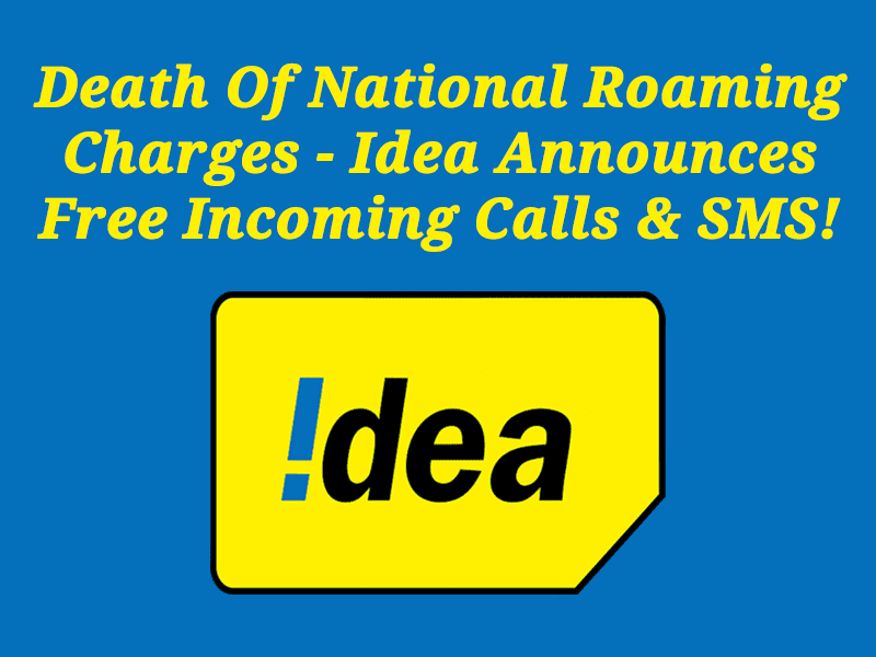 Idea Announces Free Incoming Calls & SMS