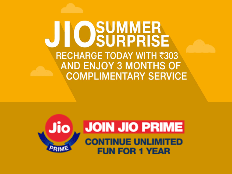 Reliance Jio Summer Surprise Offer: Free Services Extended for 3 More Months