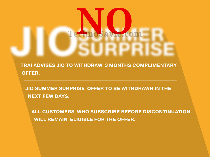 Reliance Jio to Withdraw 15 days Extension on Jio Prime Plan after TRAI's Instructions