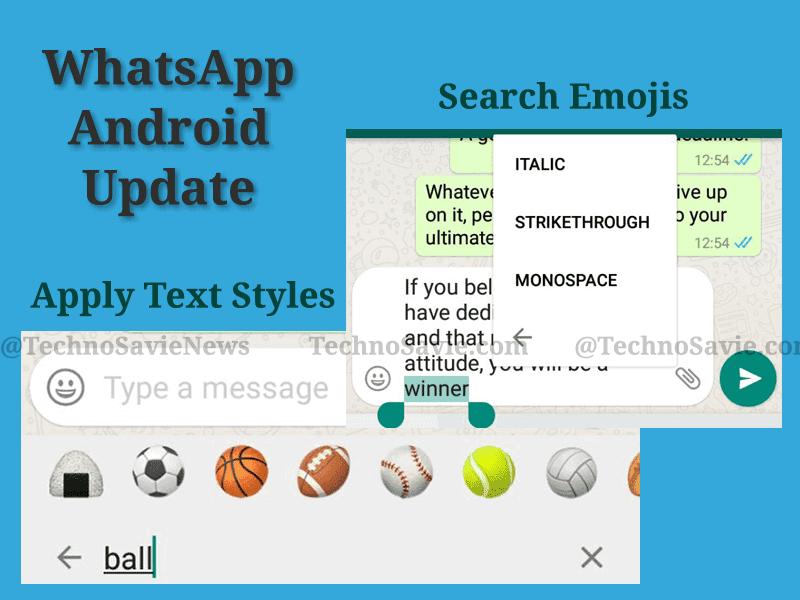 WhatsApp Android update