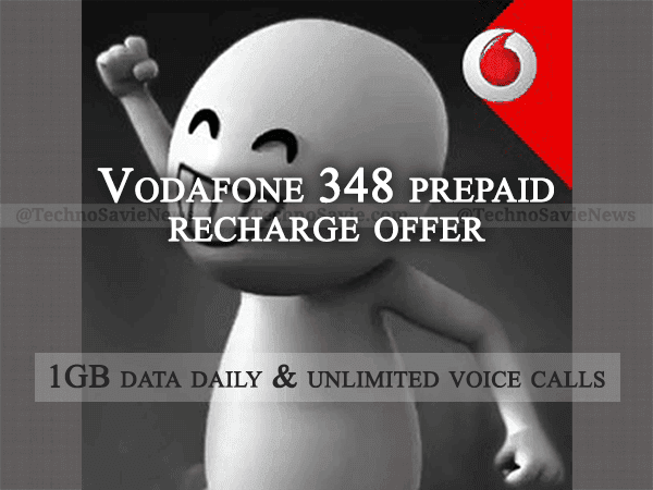Vodafone 348 prepaid recharge offer